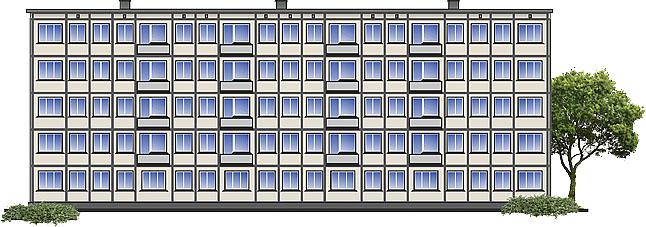 Окна для макета дома 57